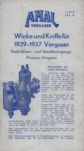 Amal Winke und Kniffe für 1929-1937 Vergaser