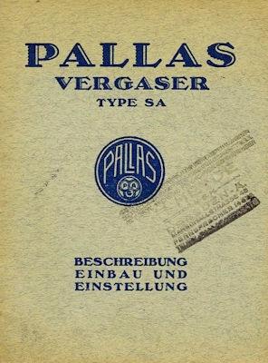 Pallas Vergaser SA 9.1927