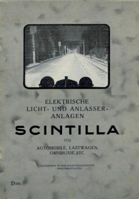 Scintilla Elektrische Licht- und Anlasser-Anlagen Beschreibung 5.1926