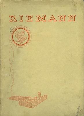 Riemann Katalog 1930er Jahre