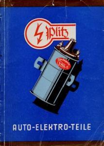 Plitz (Flöha/Sa.?) Auto-Elektro-Teile Katalog 1957