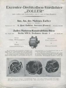 Zoller Kompressor Prospekt 1930er Jahre