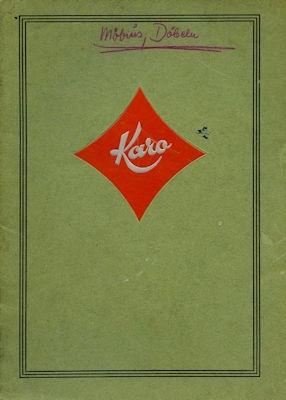 Max Karo & Co. Fabrik für Kraftfahrtzeug-Zubehör Katalog 1930er Jahre