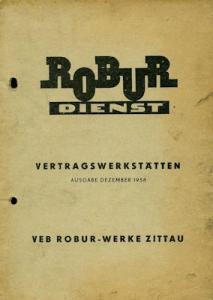 Robur Vertragswerkstätten 12.1958