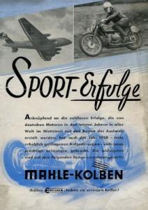 Mahle Kolben Prospekt 1939