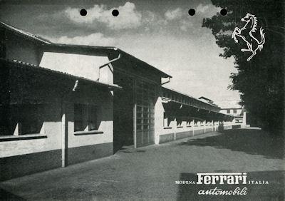 Ferrari 166 Inter Prospekt ca. 1949
