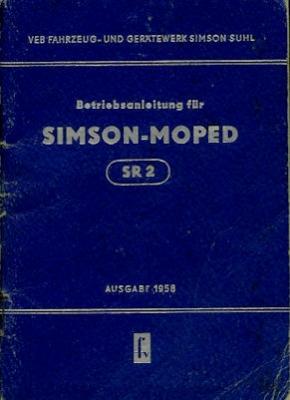 Simson SR 2 Bedienungsanleitung 1958