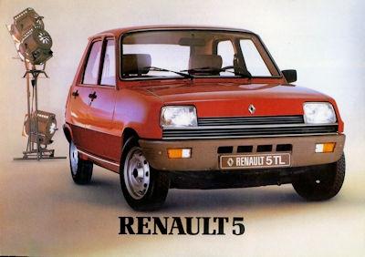Renault 5 Prospekt 1980er Jahre
