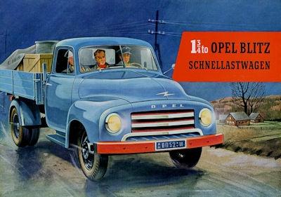 Opel Blitz Prospekt 1950er Jahre