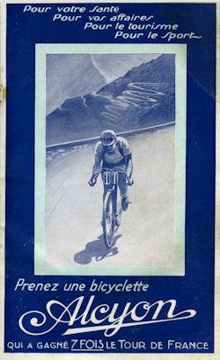 Alcyon Fahrrad und Motorrad Programm 1930