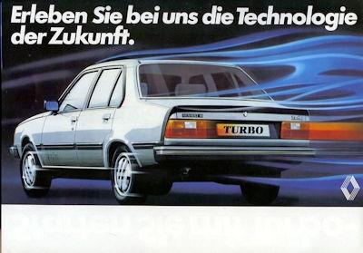 Renault 18 Turbo Prospekt 1980er Jahre