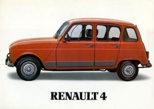Renault 4 Prospekt 1980er Jahre
