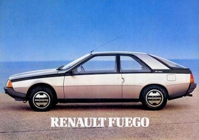 Renault Fuego Prospekt 1980er Jahre