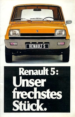 Renault 5 Prospekt ca. 1977