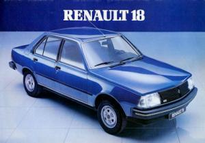Renault 18 Prospekt 1980er Jahre