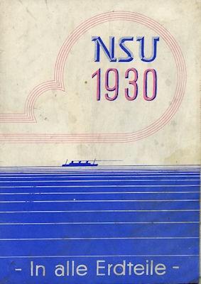 NSU Motorrad Programm 1930