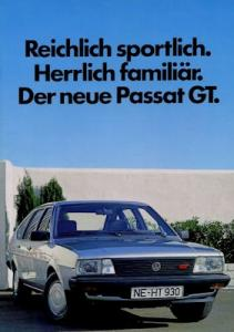 VW Passat B 2 GT Prospekt ca. 1986