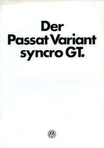 VW Passat B 2 Variant syncro GT Prospekt 2.1985