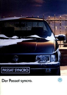 VW Passat B 3 syncro Prospekt 8.1992