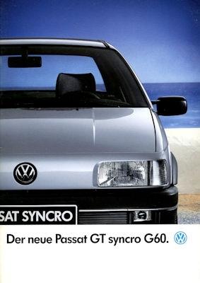 VW Passat B 3 GT Syncro G 60 Prospekt 10.1989