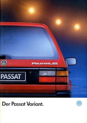 VW Passat B 3 Variant Prospekt 8.1992