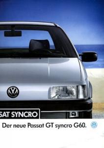 VW Passat B 3 GT Syncro G 60 Prospekt 9.1989