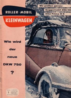 Rollerei und Mobil / Roller Mobil Kleinwagen 1959 Heft 1