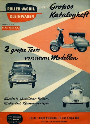 Rollerei und Mobil / Roller Mobil Kleinwagen 1958 Heft 10
