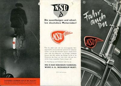 NSU Fahrrad Programm 1936
