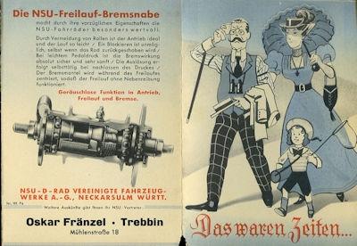 NSU Fahrrad und Quick Prospekt 1939