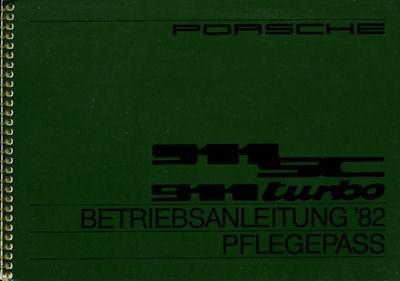 Porsche 911 SC / Turbo Bedienungsanleitung 1982