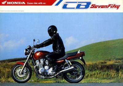 Honda CB SevenFifty Prospekt 1992