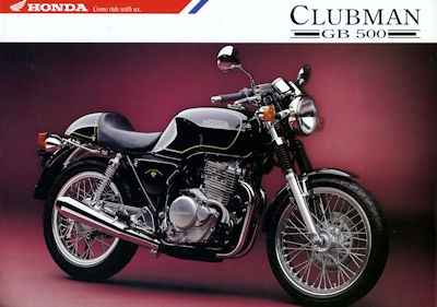 Honda Clubman GB 500 Prospekt 1992