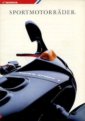 Honda Sportmotorräder Programm 1987