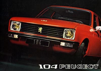 Peugeot 104 Prospekt 1973 it+nl