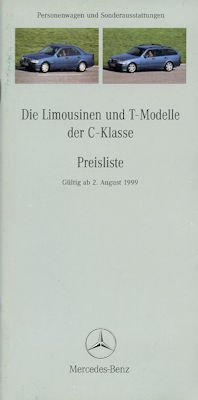 Mercedes-Benz C Klasse Preisliste 8.1999