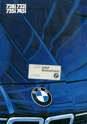 BMW 728i 732i 735i 745i Prospekt 1984