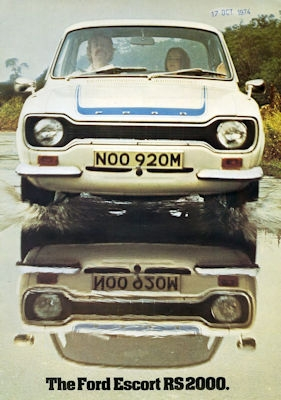 Ford Escort RS 2000 Prospekt 10.1974 e