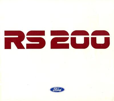 Ford RS 200 Prospekt 1987 e