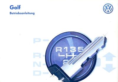 VW Golf 3 Bedienungsanleitung 1997