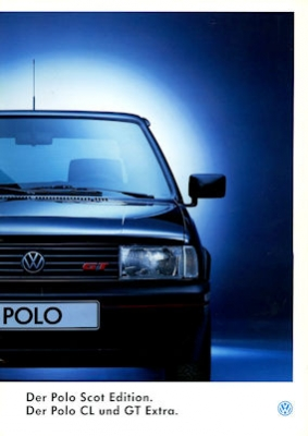 VW Polo 2 Facelift Scot Edition / CL / GT Extra Prospekt 8.1993