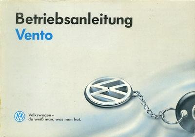 VW Vento Bedienungsanleitung 1993