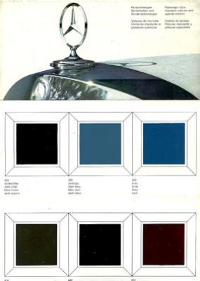 Mercedes-Benz Farben 8.1966