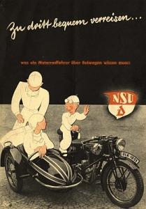 NSU Seitenwagen Prospekt ca. 1933