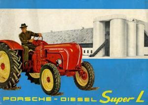 Porsche Diesel Schlepper Super L Prospekt 1961