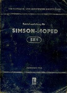 Simson SR 1 Bedienungsanleitung 6.1956