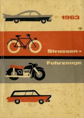 Straßenfahrzeuge (der DDR) Katalog 1963