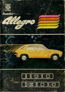 Austin Allegro Bedienungsanleitung 5.1974