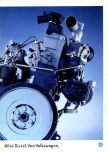 VW Diesel Prospekt 9.1995