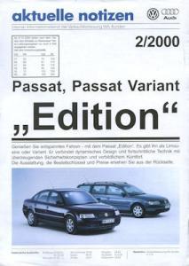 VW Passat B 5 / Variant Edition Prospekt 1.2000